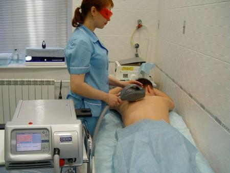 Лазеротерапия при остеохондрозе