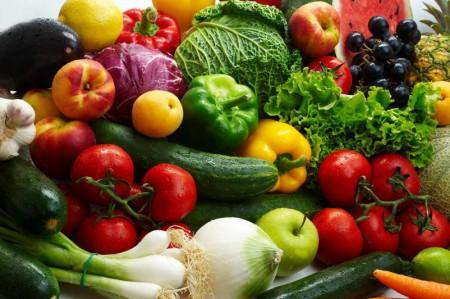Включение в рацион фруктов и овощей