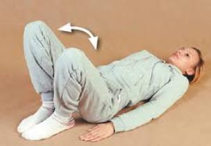 Выполнение упражнений лежа на спине